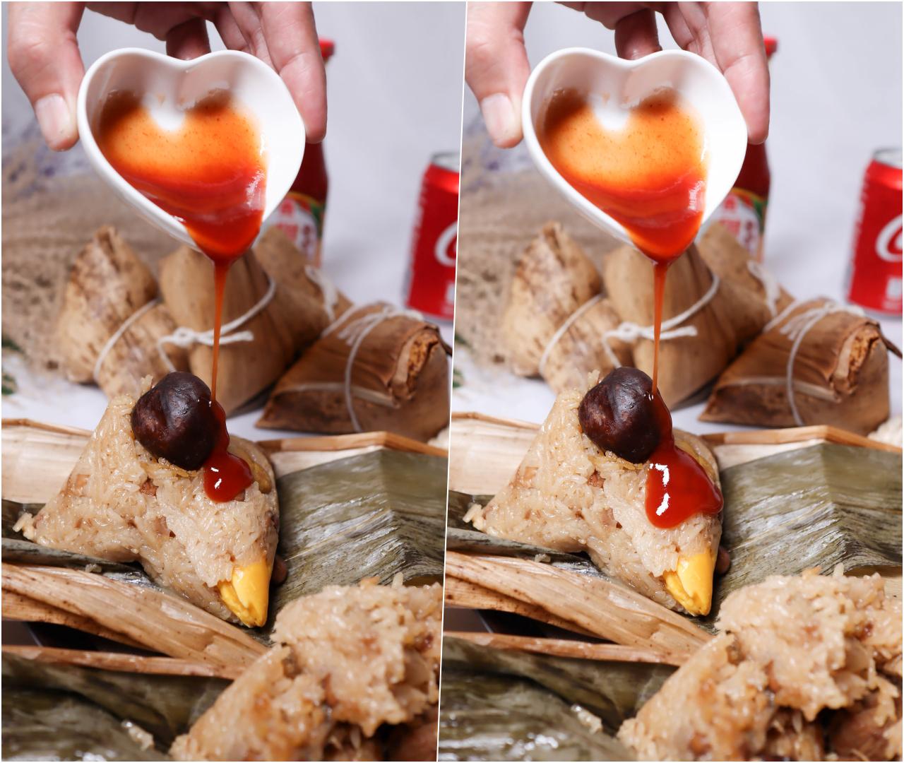 2021宅配端午節粽子推薦-貞榮小館一見粽情蛋黃爌肉粽一次加入了南部粽與北部粽的特色,米粒粒粒分明不軟糊,加入多種精選食材 @Nancy將的生活筆計本
