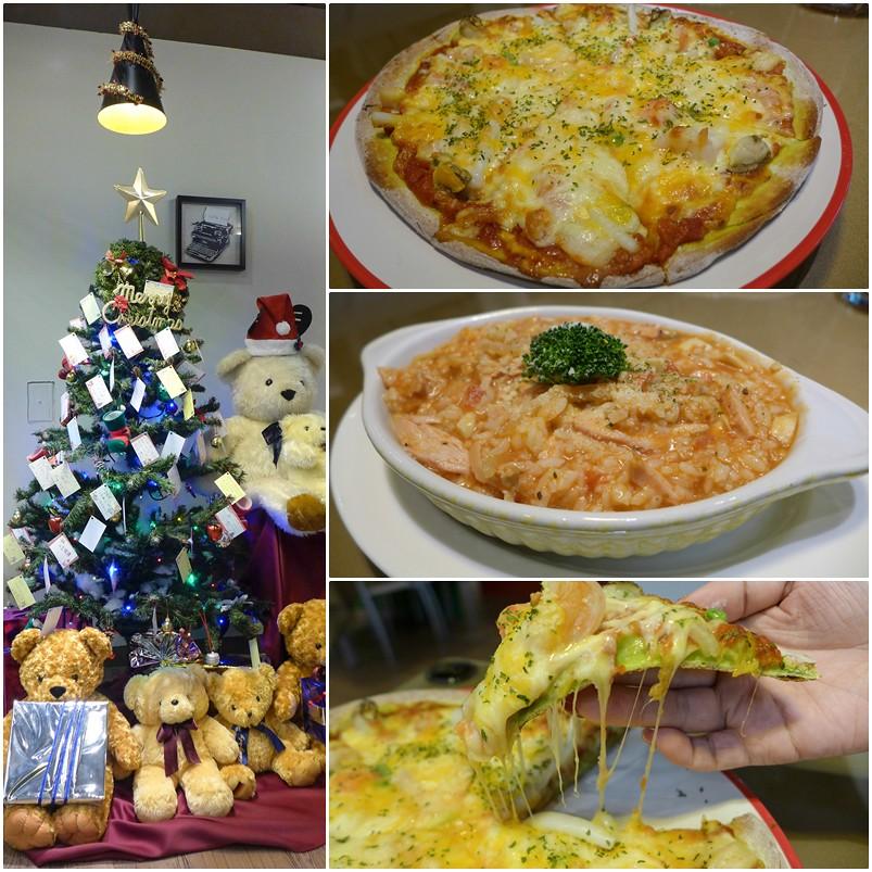 (板橋區美食)岩蘑坊,菠菜餅皮的pizza好吃又健康,燉飯的料比飯還多 @Nancy將的生活筆計本