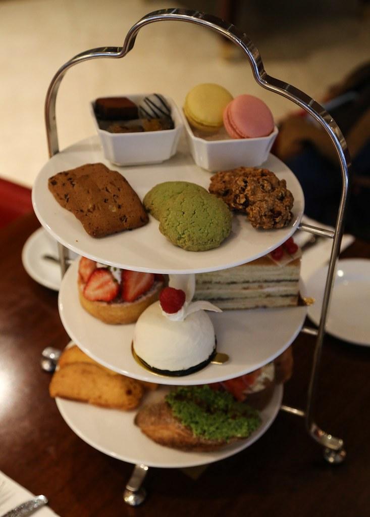 (中山國小站美食)歐華酒店之歐麗蛋糕坊,份量相當足夠之三層架下午茶雙人點心 @Nancy將的生活筆計本