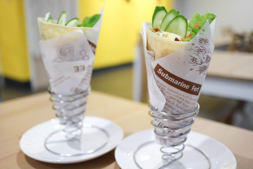 (江子翠捷運站)台法混血薄餅早午餐-嘣啾 x GAUZA-板橋早午餐 @Nancy將的生活筆計本