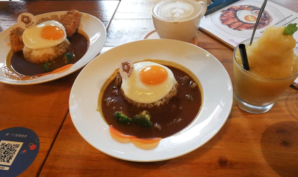 (南京復興站)BooGoo Café  布咕咖啡,半熟太陽蛋咖哩飯,IG打卡熱點,聚餐,約會 @Nancy將的生活筆計本