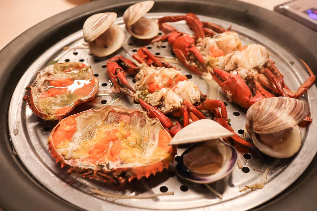 (新莊美食/新莊鍋物) 新莊海鮮餐廳-春酒/尾牙餐廳-蒸海精緻鍋物, 尚青的食材用蒸的就很好吃,感受食材最鮮甜的滋味,聚餐,套餐,單點,包廂,寵物友善餐廳 @Nancy將的生活筆計本