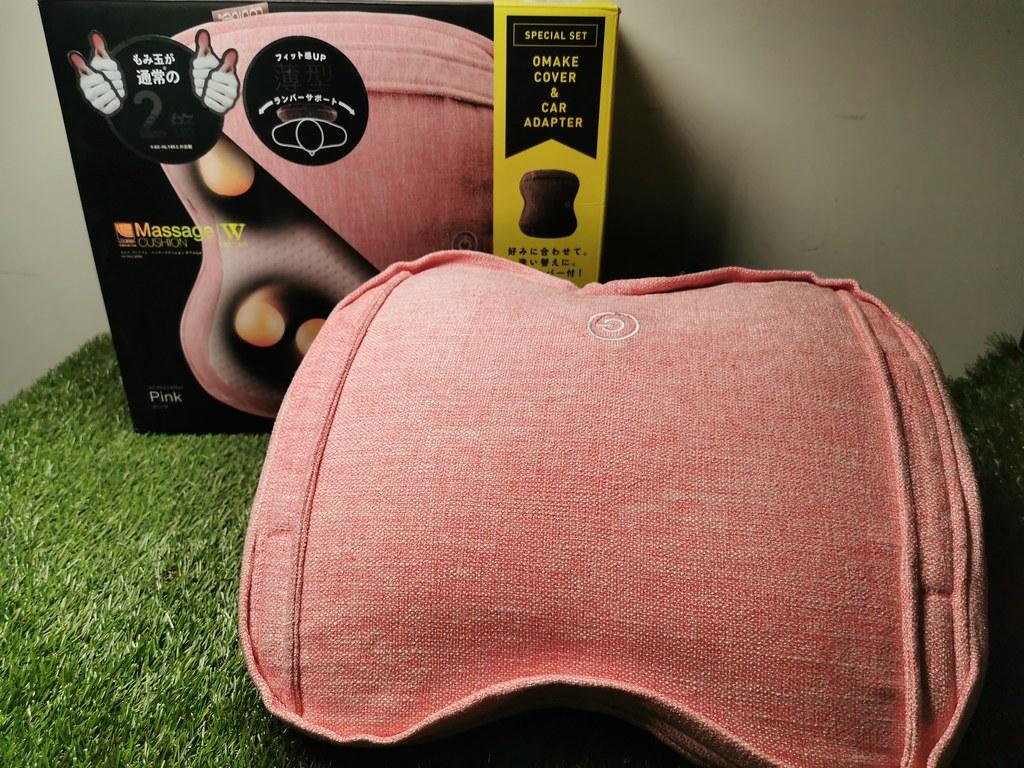 (生活用品/開箱)日本品牌ATEX日本安得士Lourdes日式溫熱揉捏薄型按摩抱枕-8顆滾珠讓按摩,宛如真人按摩力道,布套可更換清洗 @Nancy將的生活筆計本