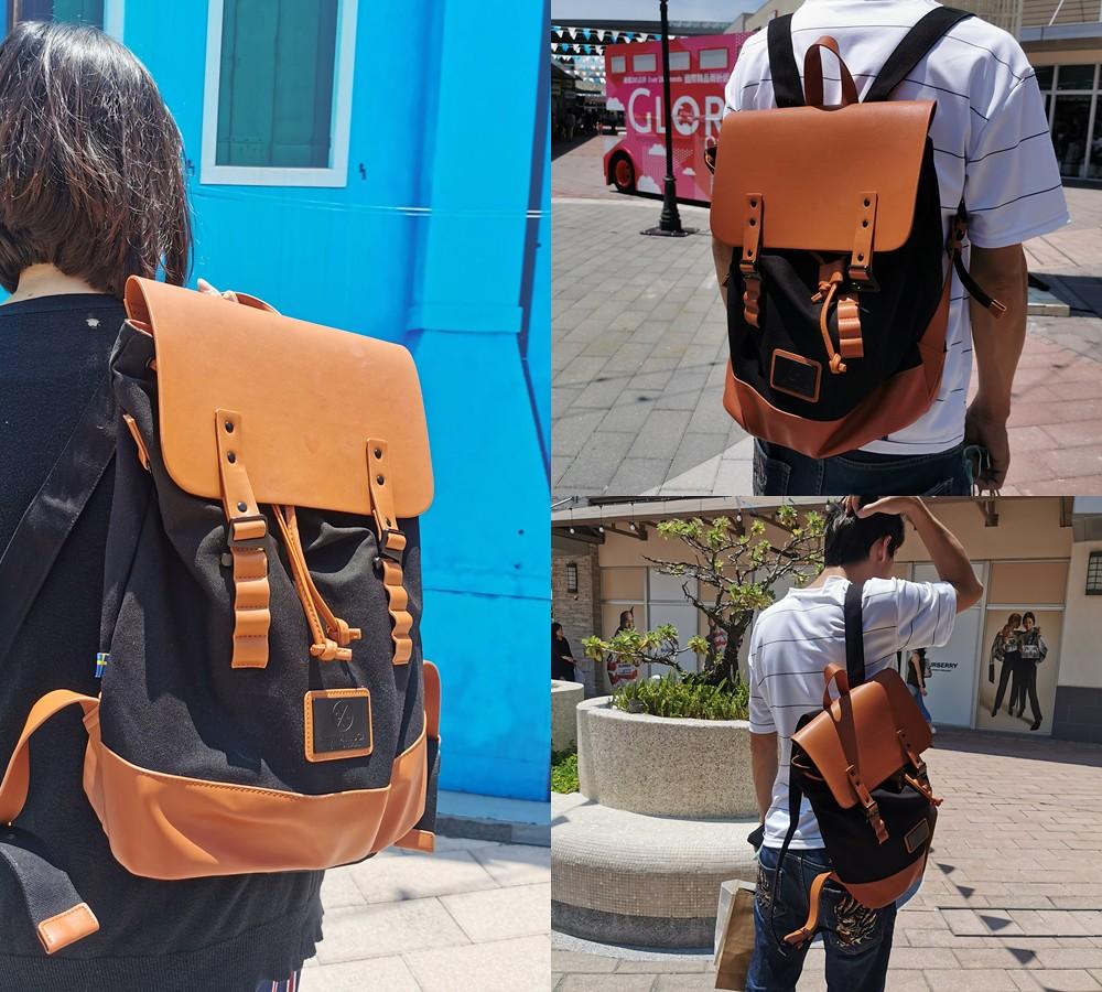 (包包)來自北歐瑞典斯德哥爾摩背包設計品牌Gaston Luga後背包,可裝入13-15吋筆電,拼接撞色不輕易與人撞包,中性款男女生皆合適 @Nancy將的生活筆計本
