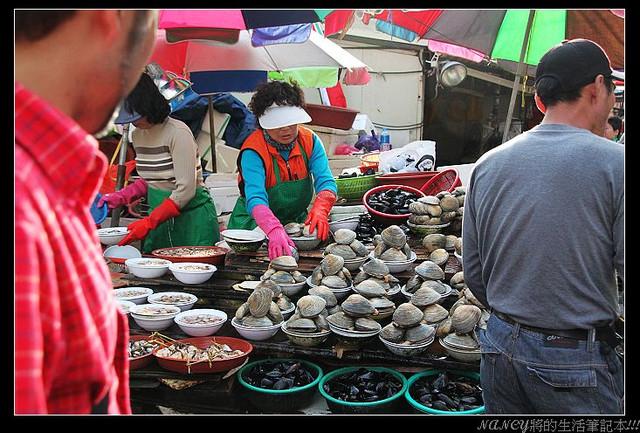 (玩樂韓國釜山行)扎嘎其海鮮市場,大啖干貝、鮑魚吃到爽 @Nancy將的生活筆計本